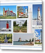 Collection Of Lighthouses Metal Print