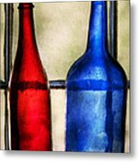 Collector - Bottles - Two Empty Wine Bottles  Metal Print