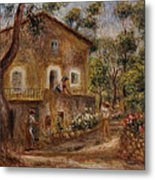 Collette's House At Cagne Metal Print