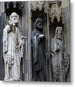 Cologne Cathedral Statues Metal Print