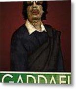 Colonel Gaddafi Metal Print