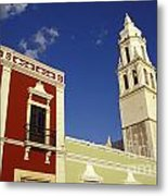Colonial Colors Campeche Mexico Metal Print
