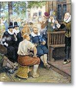Colonial Smoking Protest Metal Print