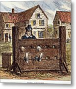 Colonial Stocks Metal Print