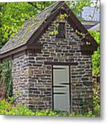Colonial Stone Ice House Metal Print