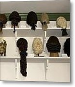 Colonial Wigs Display Metal Print