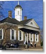 Colonial Williamsburg Courthouse Metal Print