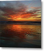 Color Burst Reflection  Metal Print