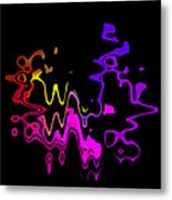 Color Melting Abstract Metal Print