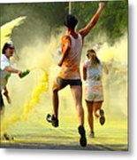 Color Run Happy Metal Print