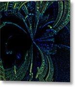 Color Study 02 Green Blue Metal Print