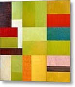 Color Study Abstract 9.0 Metal Print by Michelle Calkins