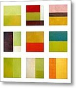 Color Study Abstract Collage Metal Print by Michelle Calkins