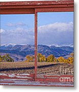 Colorado Country Red Rustic Picture Window Frame Photo Art Metal Print