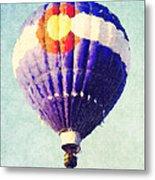Colorado Flag Hot Air Balloon Metal Print