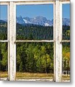Colorado Indian Peaks Autumn Rustic Window View Metal Print by James BO  Insogna