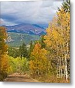 Colorado Rocky Mountain Autumn Scenic Drive Metal Print