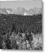Colorado Rocky Mountain Continental Divide View Bw Metal Print