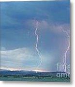 Colorado Rocky Mountains Foothills Lightning Strikes 2 Metal Print