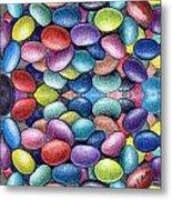 Colored Beans Design Metal Print