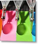 Colored Cutters Metal Print
