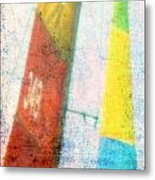 Colored Sailing Metal Print