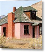 Colorful Abandoned Home In Dying Farm Town Metal Print
