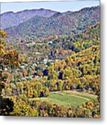 Colorful Autumn Valley Metal Print