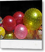 Colorful Balls In The Shop Window Metal Print by Ausra Huntington nee Paulauskaite