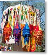 Colorful Banners At Surajkund Mela Metal Print