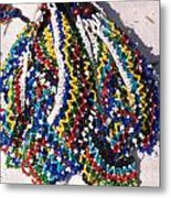 Colorful Beads Jewelery Metal Print