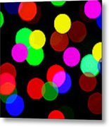 Colorful Bokeh Metal Print by Paul Ge