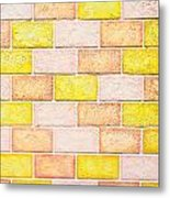 Colorful Brick Wall Metal Print