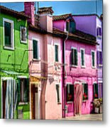 Colorful Burano Italy Metal Print