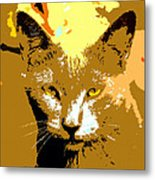Colorful Cat Metal Print