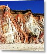 Colorful Clay Cliffs Of Aquinnah Beach Metal Print