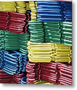 Colorful Clothes Hangers Metal Print by Skip Nall