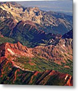 Colorful Colorado Rocky Mountains Planet Art Metal Print