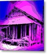 Colorful Cracker House Metal Print