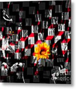Colorful Cubed Beauty Metal Print