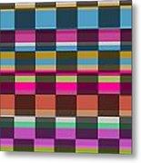 Colorful Cubes Metal Print