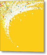 Colorful Curved Metal Print