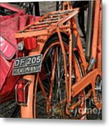 Colorful Dutch Bikes Metal Print