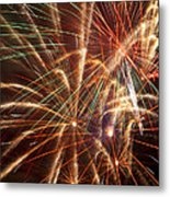 Colorful Fireworks Metal Print