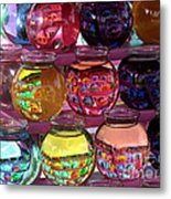 Colorful Fish Bowls Metal Print