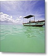 Colorful Fishing Boat Of The Caribbean  Metal Print