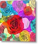 Colorful Floral Design  Metal Print