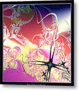 Colorful Frost Fractal 126 Metal Print