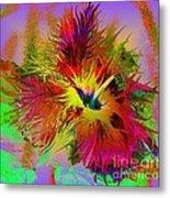 Colorful Hibiscus Metal Print by Doris Wood
