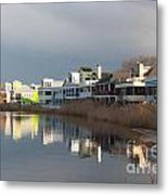 Colorful Homes On The Water Metal Print